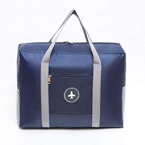 Travel Folding Luggage Thickened Waterproof Oxford Cloth Handbag Bag Round Bag-Blue