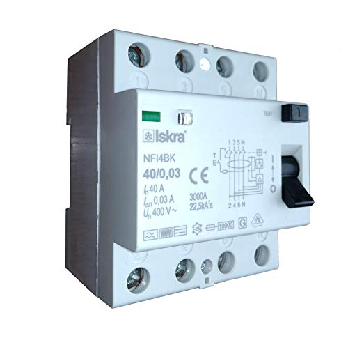 ISKRA Fehlerstromschutzschalter NFI4BK Typ B 40-80A (40A)