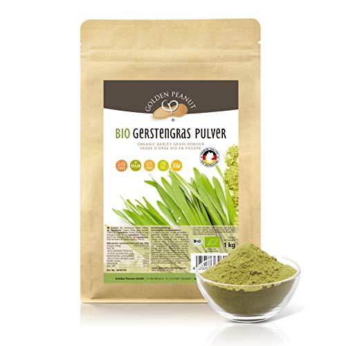 Gerstengras Pulver BIO 1 kg | aus deutschem Anbau | Rohkostqualität | Laborgeprüft | Golden Peanut