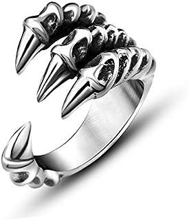 خاتم للرجال خاتم فضة شخصية أنثى مجوهرات حادة الاستبداد مخلب خاتم الذيل