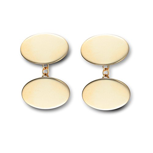Jewelco Europa Hommes Or Jaune 9k Boutons de manchette