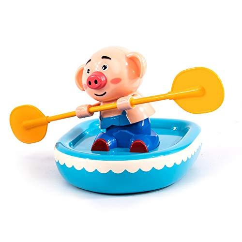 Enfant Bateau à rames Se Baigner Jouet Salle de Bain Jouer dans l'eau 3-6 Ans Protection de l'environnement Mignon Parent-Enfant,Pig