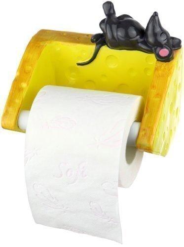Pfiffig-Wohnen Der Toilettenpapierhalter - Maus mit Käse