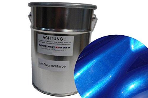 Lackpoint 1 Liter Spritzfertigen Basislack Candy Blau 2 Metallic Autolack