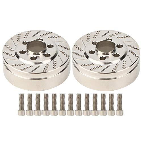 Demeras 2 Stück RC Radgewicht Edelstahl Universal 2,2 Zoll Gegengewicht Zubehör für 2,2 Zoll Radnabenmontage