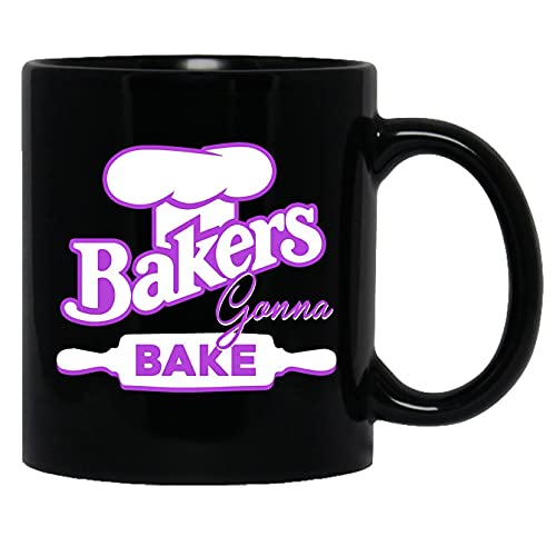 Taza de cerámica Baker - Bakers va a hornear taza de té negro taza 11oz