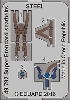 Eduard 1:48 Super Etendard Seatbelts Steel PE Detail Set for Kitty Hawk #49792