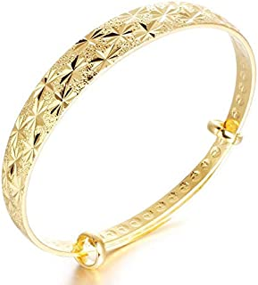 OPK Europe Style Fashion Simple 18k Gold Plating Women Adjustable Bracelet
