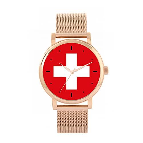 Toff London Reloj de la Bandera de Suiza