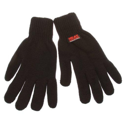 Gants de ski thermiques 2.3 Tog 'Heat Machine' unis pour homme (L/XL) (Noir)