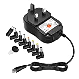 [USB Port] Outtag 45W Universal Charger Multi Voltage AC DC Adapter Switching Power Supply for 5V-15V Household Electronics Router Smartphone Speaker LED Strips CCTV Camera w/Micro USB Tip, 3000mA Max