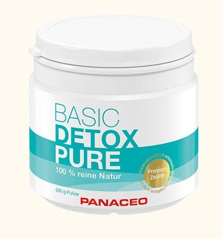 Panaceo Basic Detox pure: Veganes Bio-Medizinprodukt aus 100% Zeolith, zur Entgiftung des Darms, Pulver, 200 g