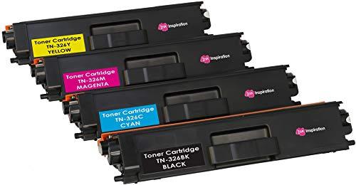 4 Tóners compatibles para Brother TN326 HL-L8250CDN HL-L8350CDW DCP-L8400CDN DCP-L8450CDW MFC-L8600CDW MFC-L8650CDW MFC-L8850CDW | Negro: 4000 páginas & Cian/Magenta/Amarillo: 3500 páginas