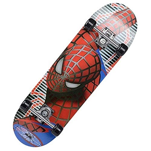 ERLIZHINIAN 60 * 15cm niños de Dibujos Animados de balancín Doble Longboard monopatín de Arce niños Monopatín Monopatín niños (Color : Spiderman)