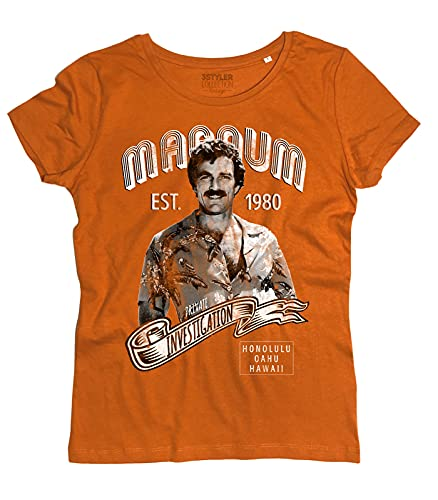 Women's Magnum Est. 1980 Private Investigation T-shirt in 3 Colours, S to XL