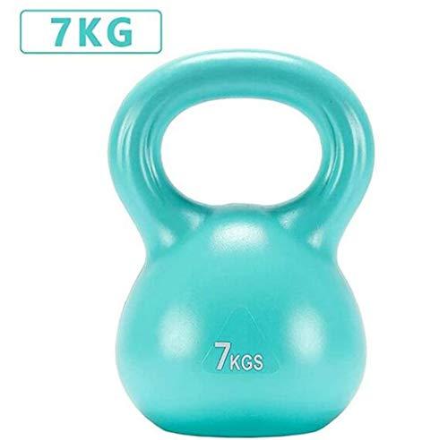 RPOLY Fitness Kettlebell, Kugelhantel Sporting Kettlebell Gewicht Kessel-Bell-Haushalt Tief Hockenarms Muskeln Trainings-Werkzeug,Blue_7KG