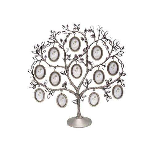 Amosfun Bilderrahmen Baum Fotohalter Stammbaum Bildhalter Tischplatte Fotorahmen Dekoration für zu Hause Hochzeit Büro