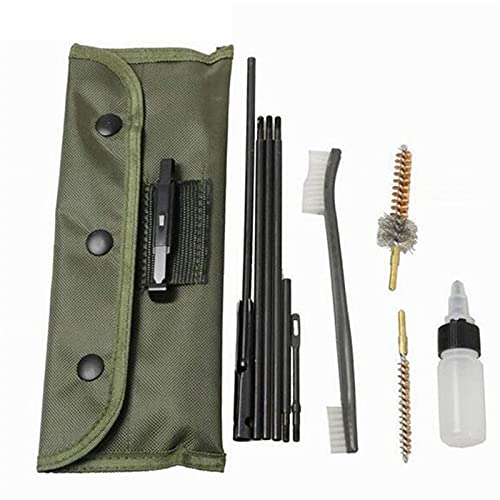 XIOFYA 10 unids Kit de Limpieza de Pistola de Pistola cepillos cepillos de Nylon Bolsa Airsoft Shotgun Pistol Cleaner para 223 22lr Caza al Aire Libre Dropship
