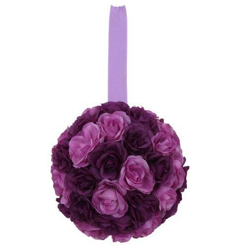 Euro Flora künstliche Rosenkugel 30 cm (lila)
