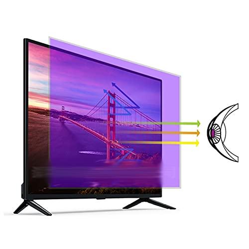 ALGWXQ Filtro de Pantalla de Luz Azul 27-75 Pulgadas Película Protectora Pantalla TV La Tasa Supresión Luz Azul Alcanza El 30,1%, Fácil de Pegar (Color : HD Version, Size : 65 Inch 1440X809mm)