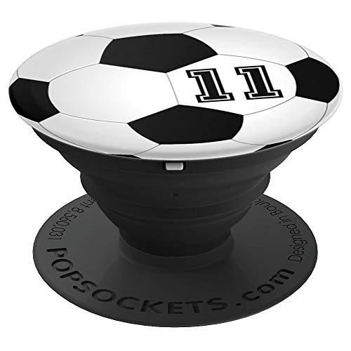 Fußball Spieler Trikot Nummer 11 Trikotnummer Rückennummer - PopSockets Ausziehbarer Sockel und Griff für Smartphones und Tablets