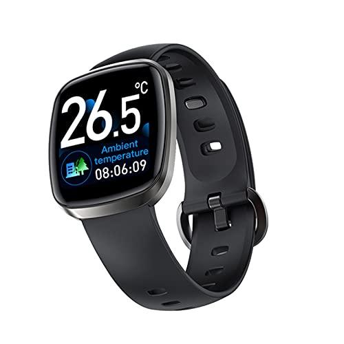 LHL Smart Watch, T8 Touch Tock, Hombres Y Mujeres DE IPX7 Sports Rastreador de Fitness, Temperatura Corporal de la frecuencia cardíaca Monitoreo del sueño SmartWatch Pulsera,C
