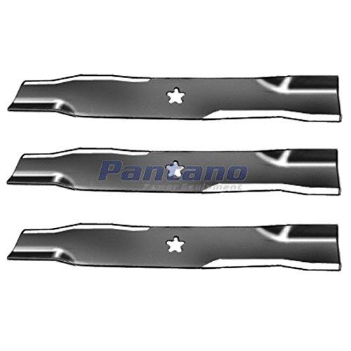 "Set Of 3, Made In USA Replacement Blades For Craftsman, Poulan, Husqvarna, Blade # 173921, 48"" Decks"