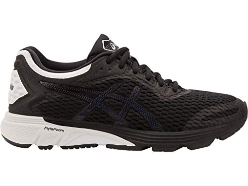 ASICS Women's GT-4000 (D) Running Shoes, 9.5W, Black/Glacier Grey