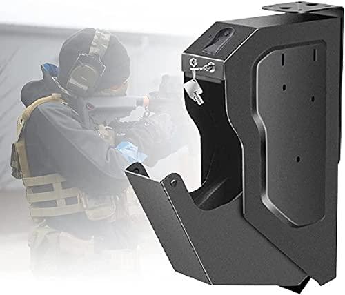 AACXRCR Armadi sicuri della pistola di impronta digitale, scatola compatta della serratura della chiavetta della chiavetta, scatola della pistola sicura della pistola con la scatola di impronta digita