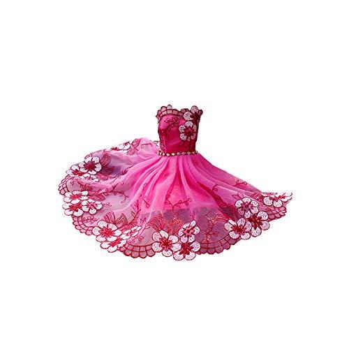 TrifyCore Brautkleid Kleider Prinzessin Kleider Partei-Ausstattung für Barbie-Puppe