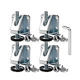 Pies de nivelación de muebles 4 PIEZAS Levantadores de patas de pie ajustable de acero al carbono Leveladores de niveles pesados Pies de niveles de niveles Cerrajeros para gabinetes de muebles Anti-
