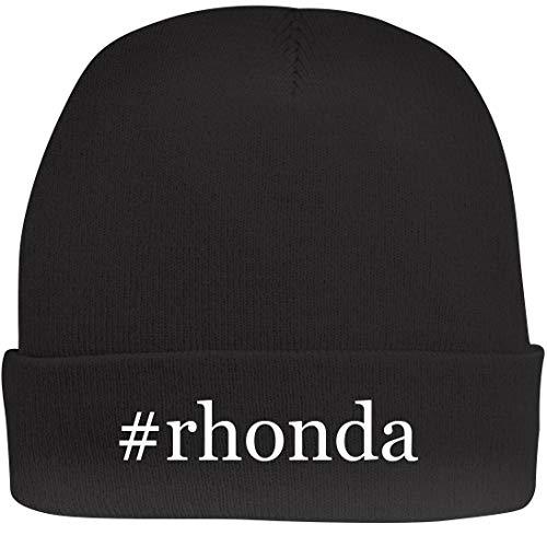 Shirt Me Up #Rhonda - A Nice Hashtag Beanie Cap, Black, OSFA