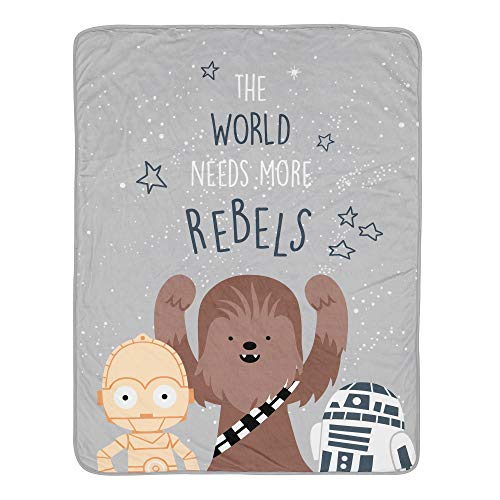 Lambs & Ivy Star Wars Rebels R2D2/C-3PO/Chewbacca Soft Sherpa Baby Blanket