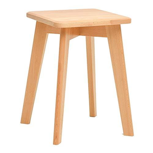 WZNING Runde Hocker, for Home/Küche, Bambus - Brown (Color : Wood Color, Size : 30 * 30 * 43)