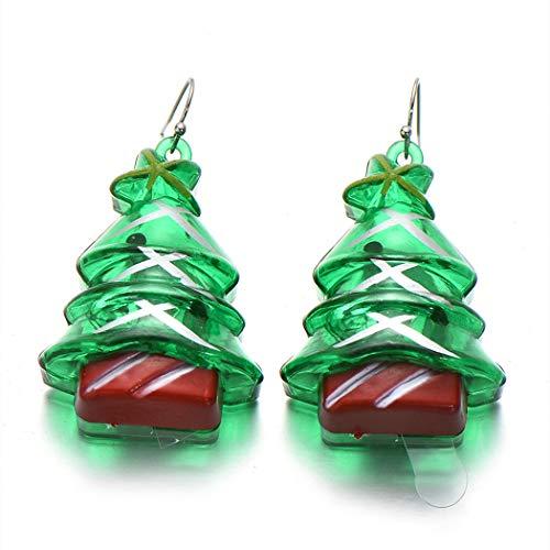 ZOYLINK Weihnachten Tropfen Ohrringe Ohrringe Leuchten Kreative LED Ohrringe Baumeln Ohrringe für Weihnachtsfeier Urlaub