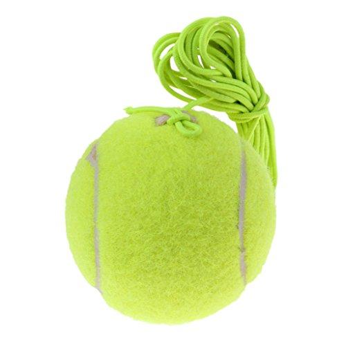 Fenteer Elastischer Tennisball mit Schnur Für Tennistrainer Trainingshilfe Übungshilfe Tennistraining Zubehör