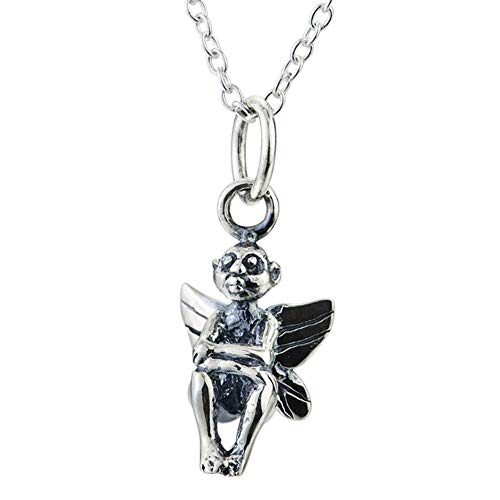 Damen-Halskette, 925 Sterlingsilber Schmuck, Angel Wings Daze-Anhänger, Weihnachten Valentinstag-Geschenk, mit Geschenk-Box, Weighs 3.8g Silver