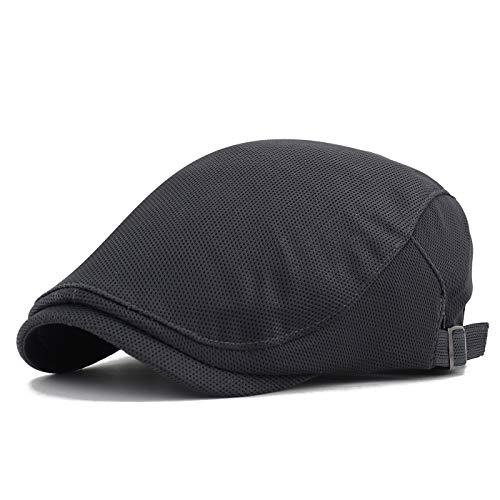 Gisdanchz Boina Hombre Verano Gorras De Hombre Invierno Viseras Hombre Gorra Gatsby Planas Mens Flat Cap Newsboy Hats For Men Golf Cabbie Hat Fashion Ivy Hat Boinas De Hombre Sombrero Gris Oscuro