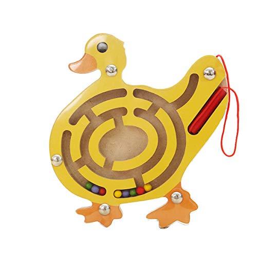 AmiAbi Blocos de equilíbrio de camelo Brinquedo de madeira Jogo de equilíbrio de madeira Montessori bloqueia o presente para brinquedos educativos para bebês (pato), o design anti-stick evita que o