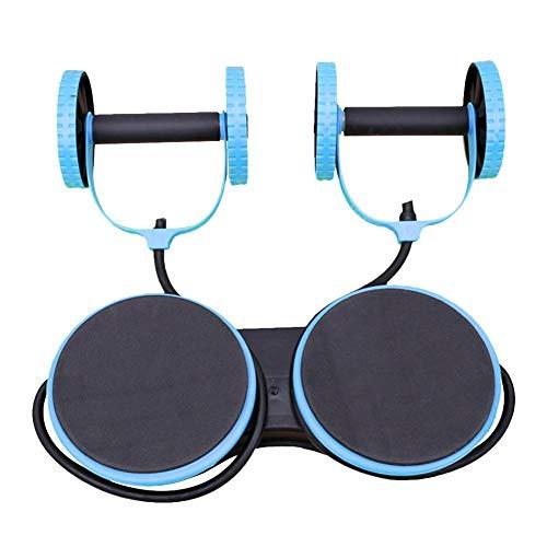 Beesuya Bauch-Rad-Zwirnmaschine, Outdoor-Sportarten Multifunktions-Doppel-Rad-Bauch-Rad, Heimfitnessgeräte, Taillen-Zwirnmaschine, Core-Trainer Great Friendly