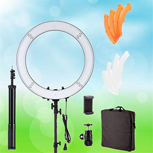 XIONGGG - Anillo luminoso de 18 pulgadas, kit de 48 cm, exterior 55 W, 240 unidades, anillo LED luz 5500 K, anillo de vídeo regulable, luz de vídeo