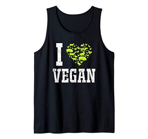 Amo los animales veganos Regalos veganos Camiseta sin Mangas
