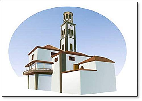 Imán para nevera, diseño de iglesia de San Marco