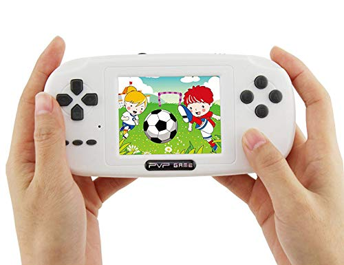 BAORUITENG Handheld Game Console, Retro FC Game Console,Video Game Console with 3 Inch 168 Classic Games (White)
