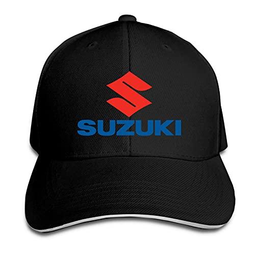 Sombrero Unisex Ajustable con Pico sándwich Gorra de béisbol Hip Hop Sombrero al Aire Libre Sombrero Suzuki Moto Logo Hat