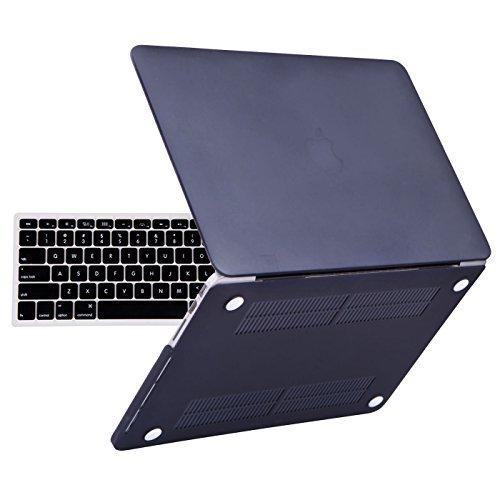 Carcasa dura de plástico HDE y funda para teclado para MacBook Pro 13 con pantalla Retina (modelos: A1425/A1502), negro