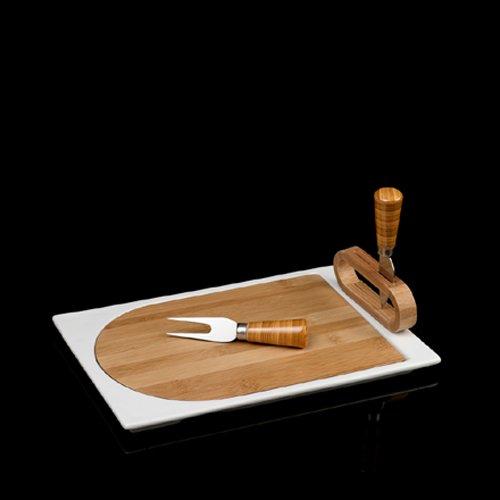 Silea 222/7160 Planche à Fromage + 2 Couteaux