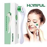 Dermaroller 0.5mm Titanio, Homful Derma Roller Facial 540 Micro Agujas para la eliminación de arrugas, reparar el tejido de la piel, disminuir la pérdida de cabello