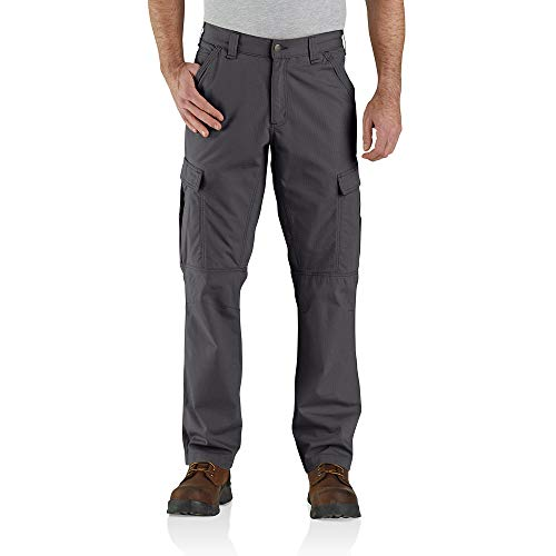 Carhartt Mens Force Broxton Cargo Trousers Work Utility Pants, Shadow, W34/L32