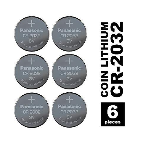 Panasonic CR2032EL/6BP Lithium Power (lange Lagerfähigkeit bis zu 10 Jahren, Lithium, 3,0 V) 6 stück